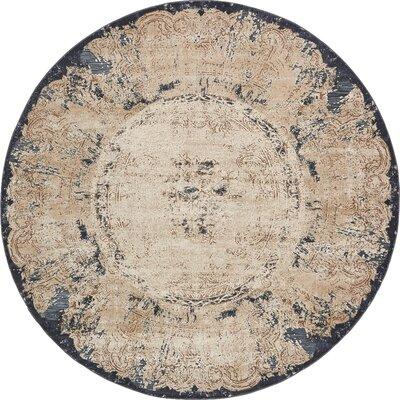 Abbeville Cream Area Rug Rug Size: Round 4 x 4