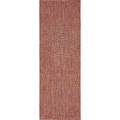 Janet Rust Red Area Rug Rug Size: Runner 2 x 6