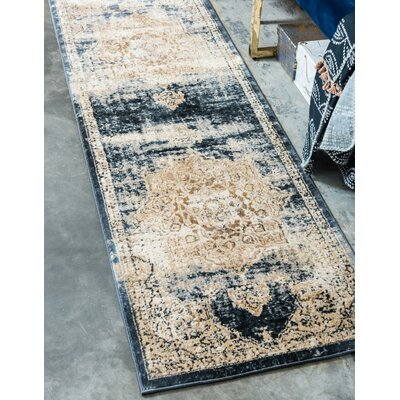 Abbeville Blue Area Rug Rug Size: Rectangle 4 x 6