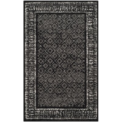 Timothee Black/Silver Area Rug Rug Size: Rectangle 3 x 5