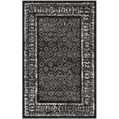 Timothee Black/Silver Area Rug Rug Size: Rectangle 26 x 4