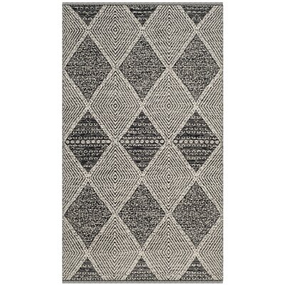 Oxbow Hand-Woven Black Area Rug Rug Size: Rectangle 3 x 5