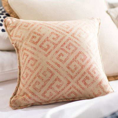 Castres Indoor/Outdoor Throw Pillow Size: 20 H x 20 W x 0.25 D, Color: Burnt Orange