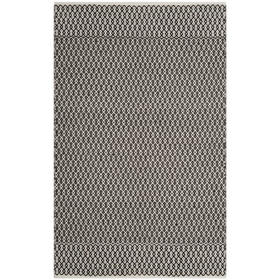 Mooreton Hand-Woven Ivory/Black Area Rug Rug Size: Rectangle 4 x 6