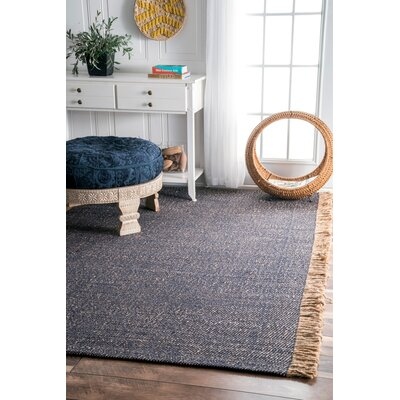 Sandford Blue Area Rug Rug Size: Rectangle 6 x 9