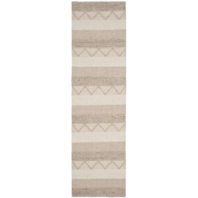 Billie Hand-Tufted Beige Area Rug Rug Size: Runner 23 x 8