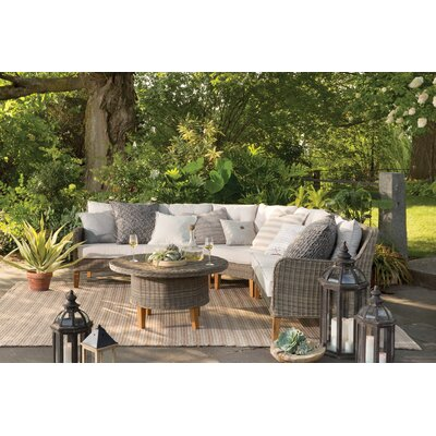 Havana Hand-Woven Natural Indoor/Outdoor Area Rug Rug Size: 83 x 116
