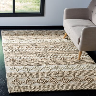 Billie Hand-Tufted Beige/Ivory Area Rug Rug Size: Rectangle 5 x 8