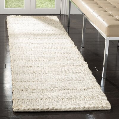 Eco-Smart Hand-Woven Bleach Area Rug Rug Size: Runner 23 x 8