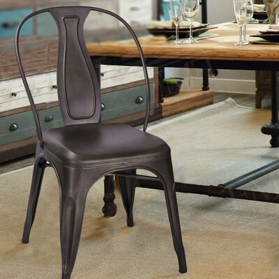 Sasha Vintage Stacking Dining Chair Finish: Bronze