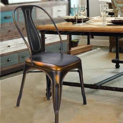 Sasha Vintage Stacking Dining Chair Finish: Copper