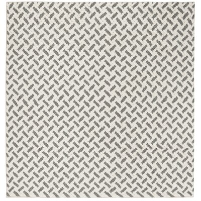 Billie Hand-Tufted Gray/Ivory Area Rug Rug Size: Square 6'