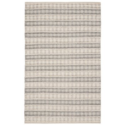 Billie Hand-Tufted Gray/Ivory Area Rug Rug Size: Rectangle 3 x 5