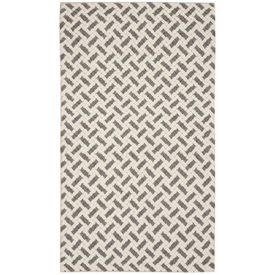 Billie Hand-Tufted Gray/Ivory Area Rug Rug Size: Rectangle 3' x 5'