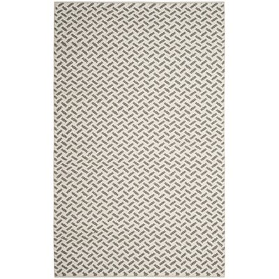 Billie Hand-Tufted Gray/Ivory Area Rug Rug Size: Rectangle 5' x 8'