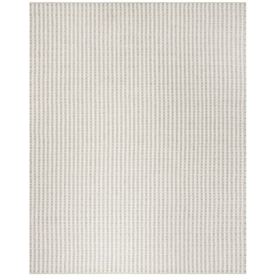 Billie Hand-Tufted Gray/Ivory Area Rug Rug Size: Rectangle 8' x 10'