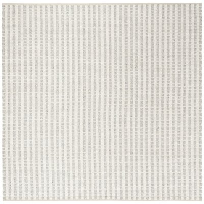 Billie Hand-Tufted Gray/Ivory Area Rug Rug Size: Square 6