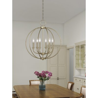 Naomie 6-Light Globe Pendant Finish: Antique Brass