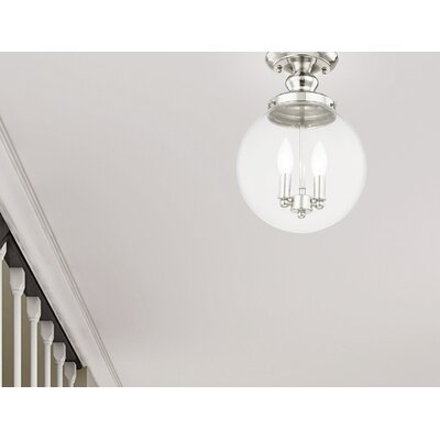 Delmar 2-Light Semi Flush Mount Finish: Polished Nickel