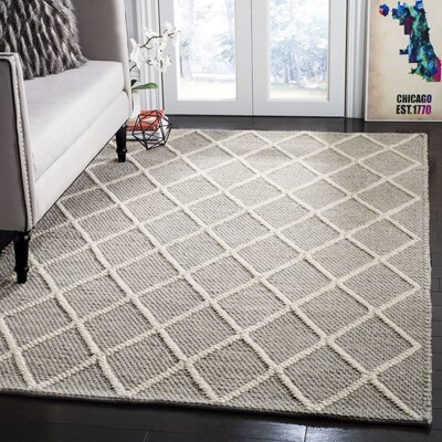 Billie Hand-Tufted Gray Area Rug Rug Size: Rectangle 5 x 8