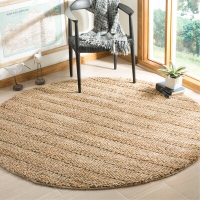 Portage Hand-Woven Natural Area Rug Rug Size: Round 6