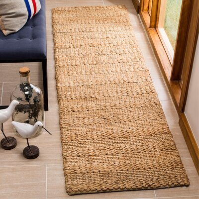 Portage Hand-Woven Natural Area Rug Rug Size: Runner 23 x 8