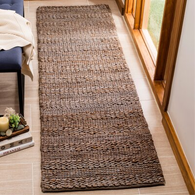 Eco-Smart Hand-Woven Beige Area Rug Rug Size: Runner 23 x 8