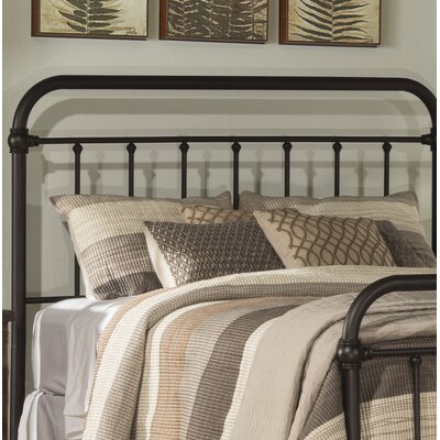 Harlow Slat Headboard Size: King, Color: Dark Bronze