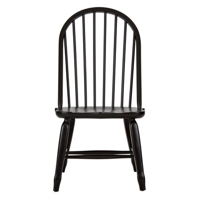 Holsworthy field Side Chair (Set of 2) Finish: Black