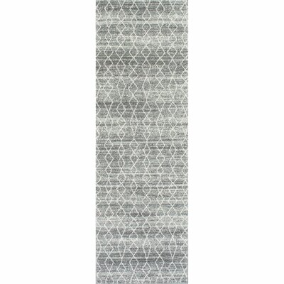 Carrie Gray Area Rug Rug Size: Runner 28 x 8
