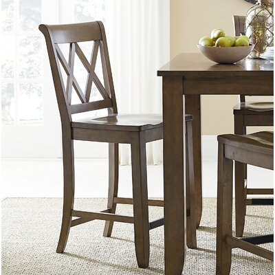 25.63 Bar Stool (Set of 2) Finish: Weathered Brown