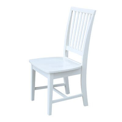 Kirsten Solid Wood Dining Chair Color: White
