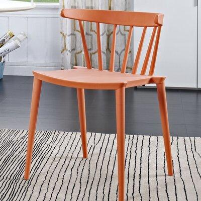 Florrie Side Chair Upholstery: Orange