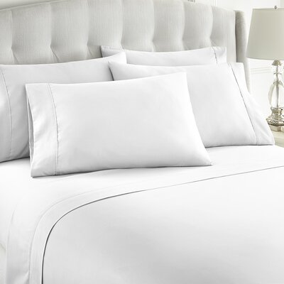 Grandin 1000 Thread Count Sheet Set Size: King, Color: White