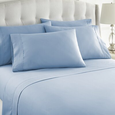 Grandin 1000 Thread Count Sheet Set Size: King, Color: Light Blue