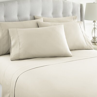 Grandin 1000 Thread Count Sheet Set Size: King, Color: Ivory