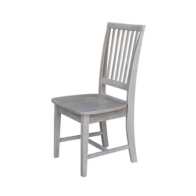 Kirsten Solid Wood Dining Chair Color: Weathered Gray