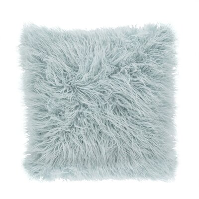 Faux Mongolian Throw Pillow Color: Ice Blue
