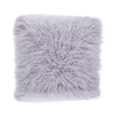 Faux Mongolian Throw Pillow Color: Lavender