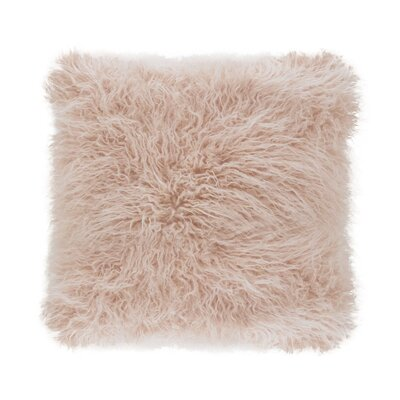 Faux Mongolian Throw Pillow Color: Rose