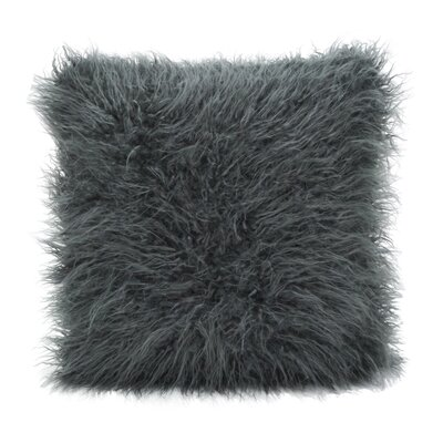 Faux Mongolian Throw Pillow Color: Slate
