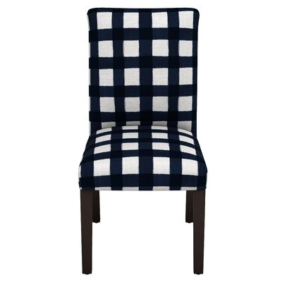 Linnet Backwoods Side Chair Color: Blue/White