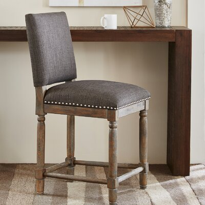 Remy 25 Bar Stool Upholstery: Grey