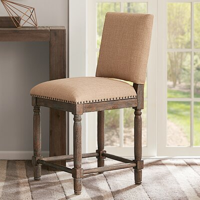 Remy 25 Bar Stool Upholstery: Tan