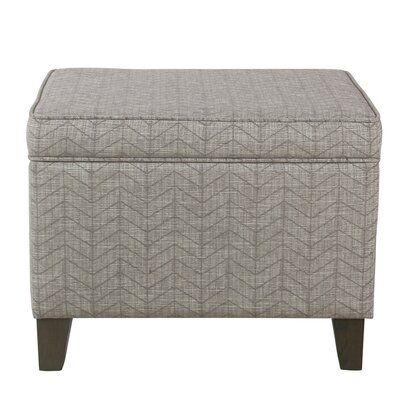 Annet Storage Ottoman Upholstery: Textured Gray, Color: Washed Gray
