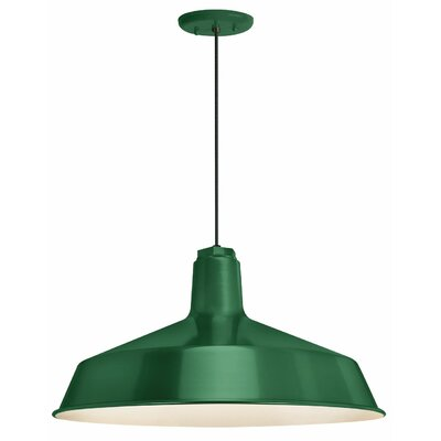 1-Light Pendant Finish: Hunter Green