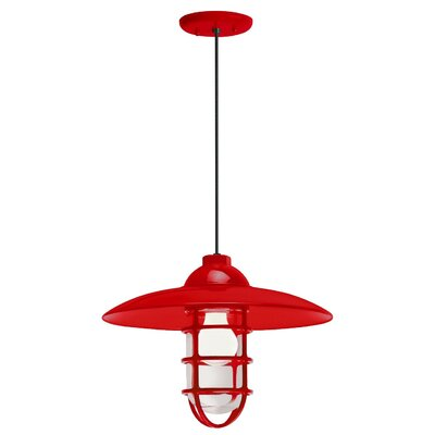 1-Light Pendant Finish: Red