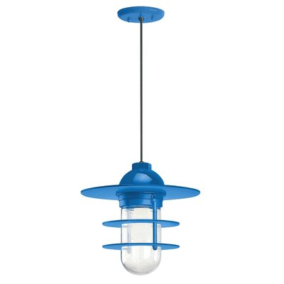 1-Light Pendant Finish: Blue