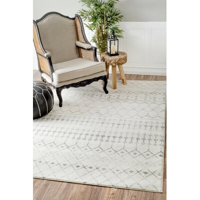 Olga Gray Area Rug Rug Size: Rectangle 8 x 10