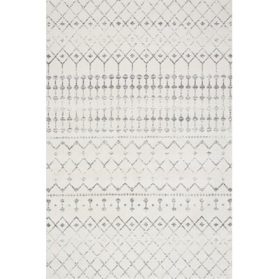 Olga Gray Area Rug Rug Size: Rectangle 4 x 6